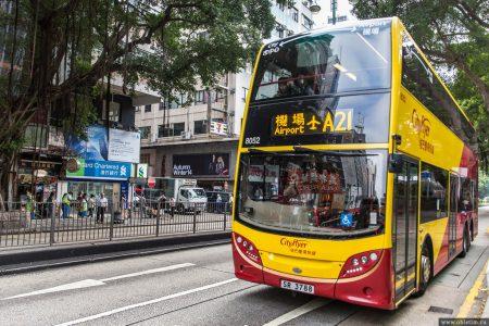Из центра города Гонконг в аэропорт на автобусе