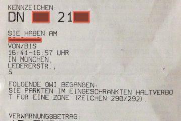 Как оплатить штраф в Мюнхене за неправильную парковку на улице