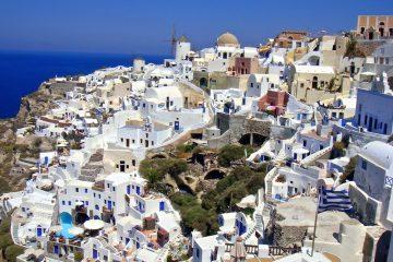 Город Иа (Санторини), пляж Красные пески. Возвращение на Крит.