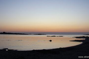 Ночёвка на пляже Элафониси на острове Крит
