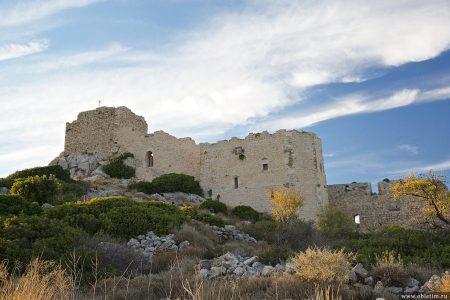 Замок Критиния (крепость Кастелло) на Родосе