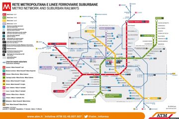 Метро в Милане. Карта и схема метро.