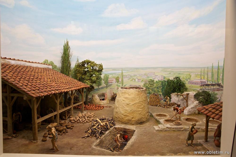 Немецкий музей - Выжигание глиняных горшков