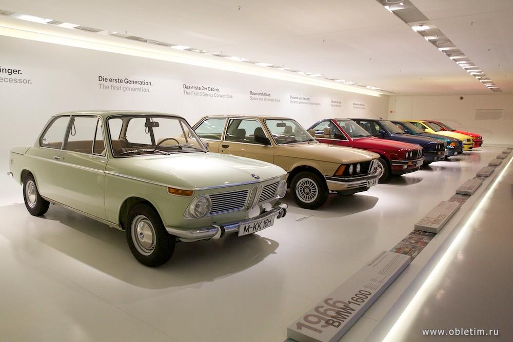 машины BMW в хронологическом порядке