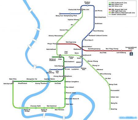 Метро в Бангкоке (Airport Rail Link, BTS Skytrain, MRT)