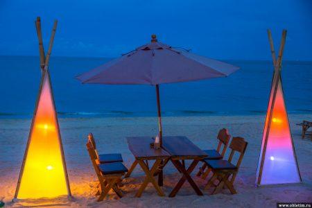 Романтический ужин на острове Самуи