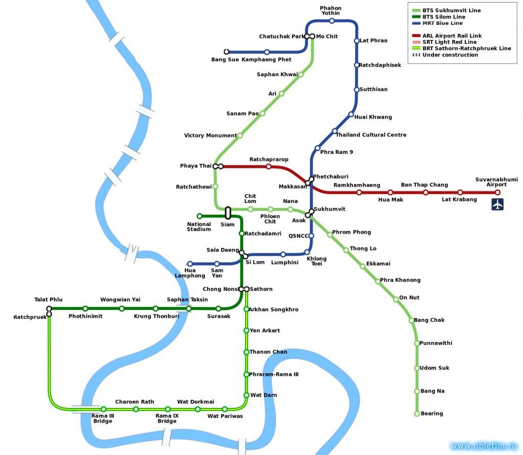 Схема метро Бангкок