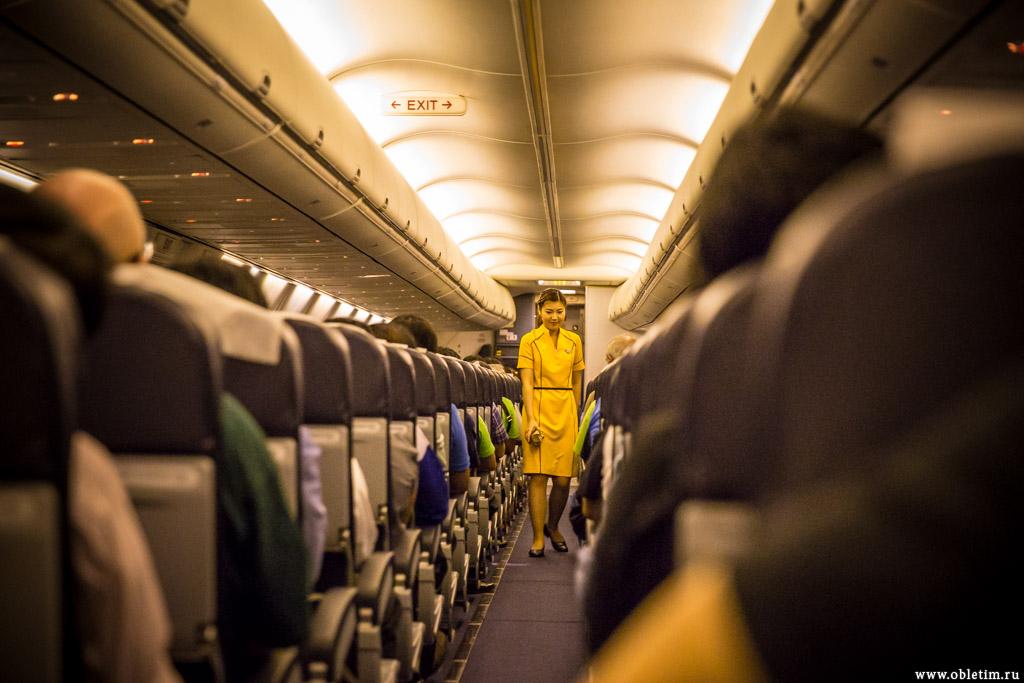 Салон самолёта Nok Air